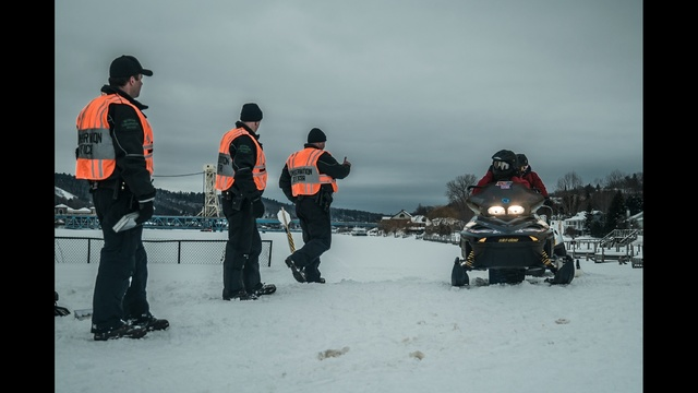 DNR partners with sheriff's deputies to patrol snowmobile noise complaints in the City of Houghton
