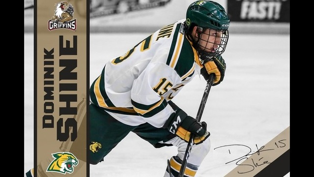 NMU's Dominik Shine signed with the Grand Rapids Griffins