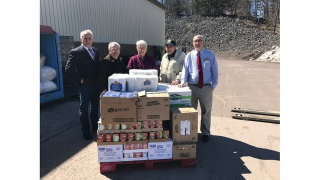 St. Vincent's food pantry of Hancock receives Easter bounty
