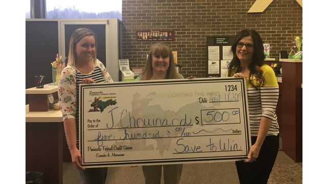 Peninsula Federal Credit Union announces Save to Win prize-winner