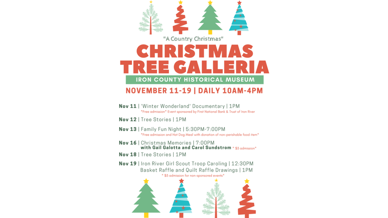 Iron County Museum to hold 28th Annual Christmas Tree Galleria