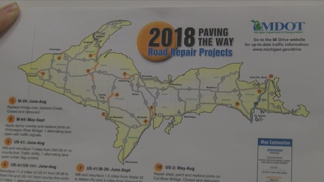M-DOT issues road construction map